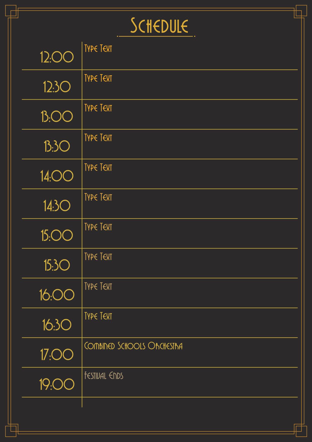 Jazz Festival Schedule_Page 2 - Schedule
